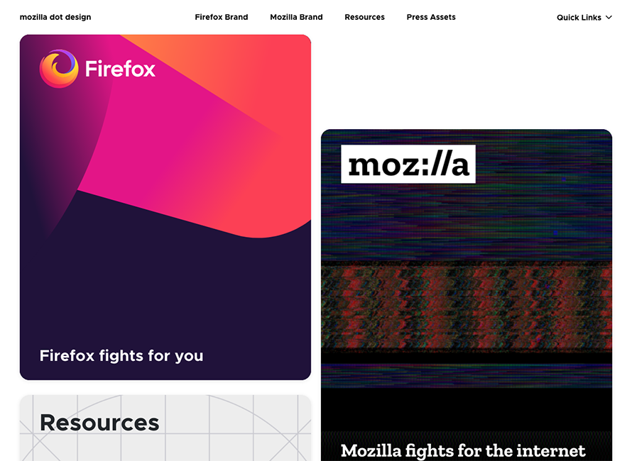Mozilla Dot Design